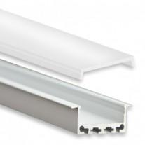 PN5 Bunda C1 Aluminium Profil f. LED Stripes 2m + Plast Opal