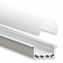 PN5 Heka C4 Aluminium Profil f. LED Stripes 2m + Plast Opal