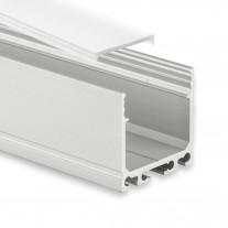 PN6 Agena C1 Aluminium Profil f. LED Stripes 2m + Plast Opal