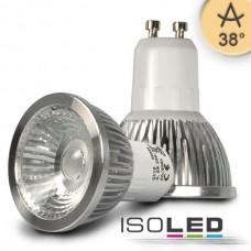 GU10 LED Lampa 5,5W COB, 38° varmvit, dimbar