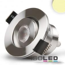 LED spot för inbyggnad, 3W, 45°, rund, Aluminium., varmvit