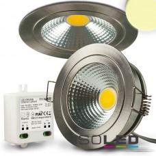 LED spot för inbyggnad COB med Reflektor, 5W, nickel, varmvit