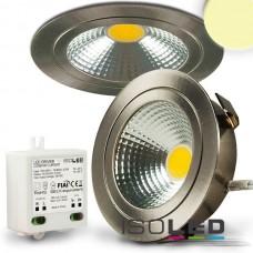LED spot för inbyggnad COB mit Reflektor, 3W, nickel., varmvit