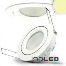LED spot för inbyggnad vit, 8W SMD, 140°, rund, varmvit, dimbar
