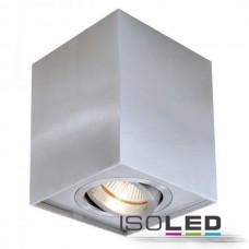 Downlight kvadrat GU10, borstad aluminium
