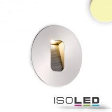 LED Lykta för inbyggnad rund, IP65, 1x3W CREE, Ädelstål, varmvit