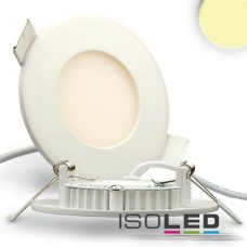 LED Downlight vit 3W, 120°, inkl. Driver, varmvit