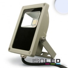 LED Strålkastare 15Watt, kallvit, silver matt