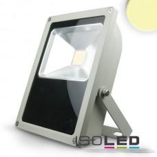 LED Strålkastare 35Watt, varmvit, silver matt