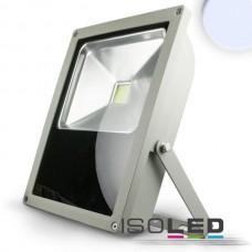 LED Strålkastare 70Watt, kallvitt, silver matt