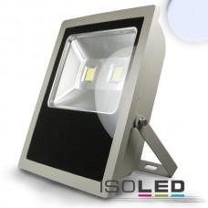 LED Strålkastare 100Watt, kallvit, silver matt