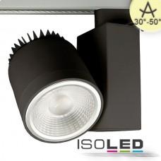3-Fas Skensystem Spot fokuserbar, 35W, 30°-50°, svart matt, varmvit