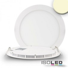 "LED Downlight ""ultra flach"" vit, dimbar, 18W, 120°, inkl. Driver, varmvit 3000K"