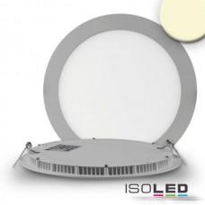 "LED Downlight ""ultra flach"" silver, dimbar, 18W, 120°, inkl. driver, varmvit 3000K"
