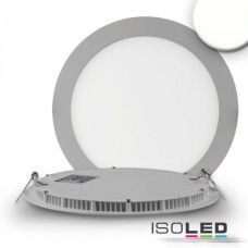 "LED Downlight ""ultra flach"" silver, 18W, 120°, inkl. Driver, neutralvit 4000K"
