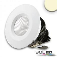 LED Downlight COB, IP54, 8W, Aluminium vit, varmvit