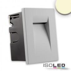 LED Vägglykta för inbyggnad IP65, 3W, varmvit, silver