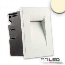 LED Vägglykta för inbyggnad IP65, 3W, varmvit,vit