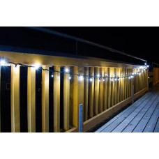100 LED Ljusslinga inkl 10 FLASH LED 5 meter Neutralvit kopplingsbar 5 Watt