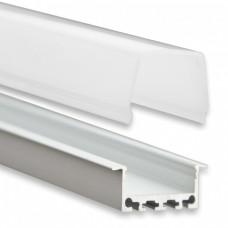 PN5 Atik C2 Aluminium Profil f. LED Stripes 2m + Plast Opal