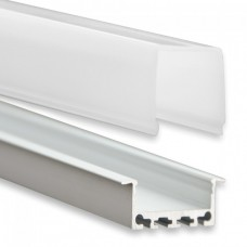 PN5 Regor C3 Aluminium Profil f. LED Stripes 2m + Plast Opal