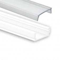 PL 1 Anser med 2 meter vit pulverlackad med täckglas