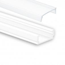PL 1 Anser med Opal täckglas 2 meter vit pulverlackad