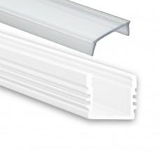 PL2 Arrakis med klar täckglas vit pulverlackad 2 meter