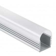 PL5 Megrez C3 Aluminium Profil för LED Stripes 2m + Täckglas/plast Opal