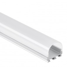 PL6 Nash C3 Aluminium Profil för LED Stripes 2m + Täckglas/plast Opal