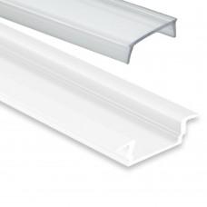 PL 8 Subra vit med täckglas 2 meter klar