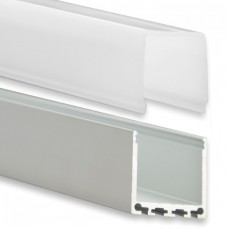 PN6 Gianfar C3 Aluminium Profil f. LED Stripes 2m + Plast Opal