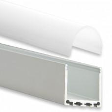 PN6 Nunki C4  Aluminium Profil f. LED Stripes 2m + Plast Opal