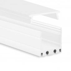 P8 Kocab Aluminium Profil inkl. täckglas Opal Vit Pulverlackad